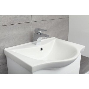 Prestige Biały szafka z umywalką